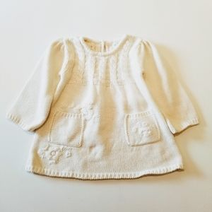 The Children's Place Cream Knit Sweater Dress EUC